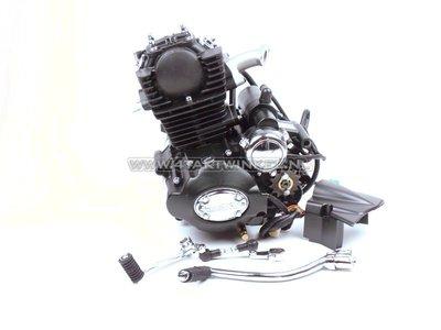 Motor, 50 ccm, manuelle Kupplung, Lifan, (MASH) 4-Gang-Vertikalzylinder, mit Anlasser, schwarz