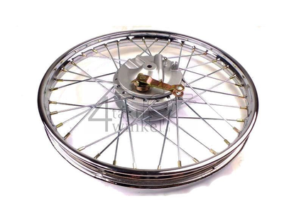 Rad komplett, Vorderrad, 17 Zoll SS50, CD50, CD50S Benly, Nachfertigung, mit Bremsplatte