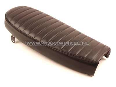 Sitzbank MASH Modelle 50, 50 ccm, 125cc und 250 ccm, schwarz mit schwarzen Kedern