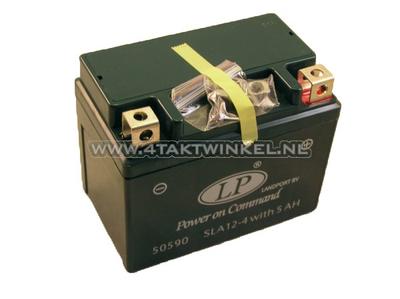 Batterie 12 Volt 5 Ampere Landport, SLA12-4.Größe = 4 Ampere CTX 4L-BS