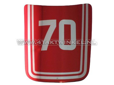 Aufkleber C70 OT vorne, rot, original Honda, NOS