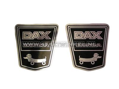 Aufkleber Dax Emblem unter Sitzbank, funny dog links & rechts