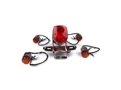Rücklicht und Blinker-Set, Dax Old Style, Skyteam, rot