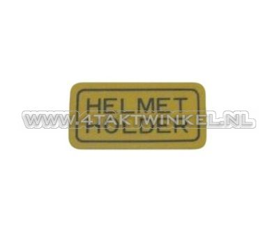 Aufkleber Helmet Holder, original Honda