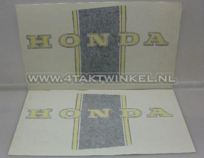 Aufkleber Dax Rahmen, schwarz / gelb, Nachfertigung