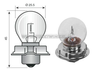 Scheinwerfer Lampe P26S, 12 Volt, 15 Watt, zB CB50, CY50