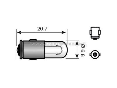 Glühlampe BA7s, 6 Volt, 1,2 Watt
