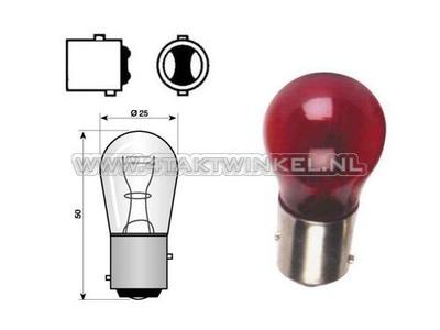 Hecklampe Duplo BAY15D, 12 Volt, 21-5 Watt, rot