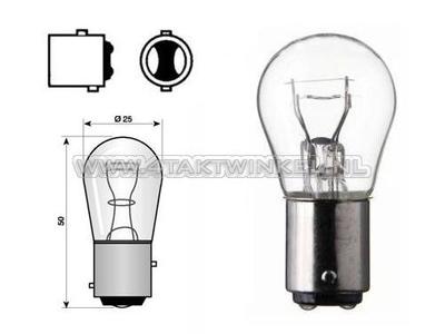Hecklampe Duplo BAY15D, 6 Volt, 21-5 Watt
