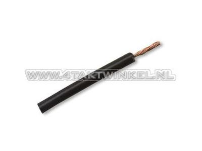 Litze pro Meter 0,75 mm², schwarz
