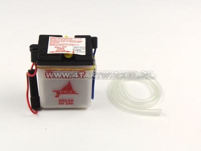 Batterie 6 Volt 2 Ampere, SS50, Bleibatterie, Aftermarket