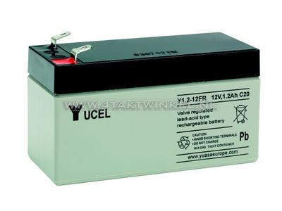 Batterie 12 Volt 1,2 Ampere Gel Yucel