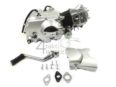 Motor, 50 ccm, manuelle Kupplung, Zhenhua, 4-Gang, mit Anlasser, Euro 4, 3x gelber Litze