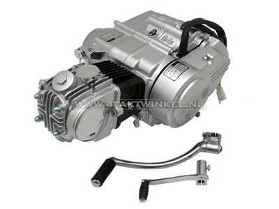 Motor, 50 ccm, manuelle Kupplung, Zongshen, 4-Gang, Silber