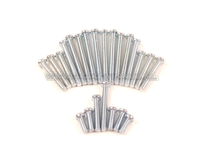 Schraubensatz Kurbelgehäuse, Kreuzkopf, SS50, CD50, C50, Nachfertigung