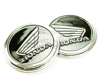 Emblem Set, Honda wing, schwarz