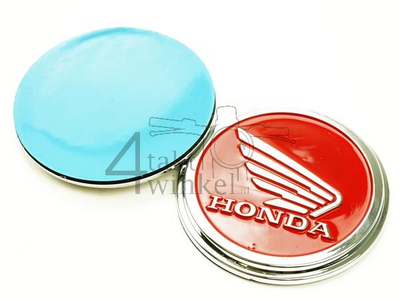 Emblem Set, Honda wing, rot