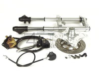 Vorderradgabel komplett, Dax, 45mm upside down, Kepspeed, Typ 2, silber