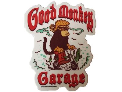 Good Monkey Garage Aufkleber # 1