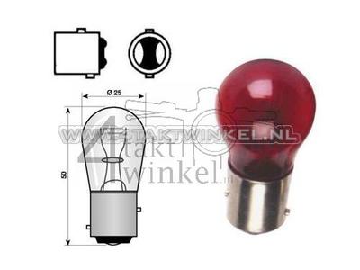 Hecklampe Duplo BAY15D, 12 Volt, 18-5 Watt, rot