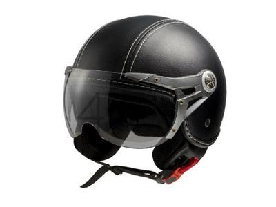 Helm MT, Le Mans Soul Retro, Leder schwarz, Größen XS bis XXL
