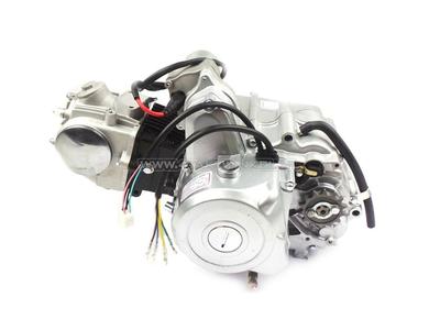 Motor, 70 ccm, manuelle Kupplung, 4-Gang, Anlasser oben, silber