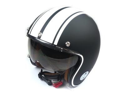 Helm MT, Le Mans Speed, Matt schwarz / weiß, Größen S bis XL