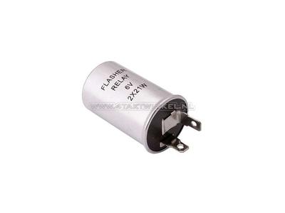 Blinkrelais 6 Volt 10 bis 21 Watt Lampen zylinderformig