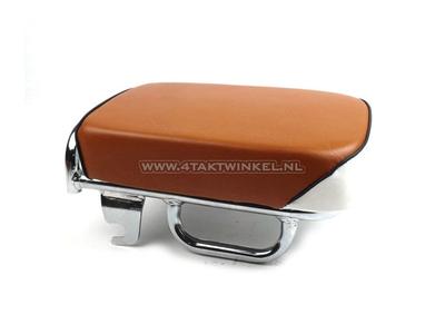 Sitzbank für Passagiere, C50 NT, C50k1 und C50 Replika, Streetcub, Standard braun / weiß, schwarze Keder