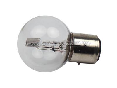 Scheinwerfer Lampe BA21D, Doppelt, 6 Volt, 25-25 Watt, Dax 3-polig