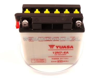 Batterie 12 Volt 7 Ampere Bleibatterie, 12N7-4A, MASH Fifty, Yuasa