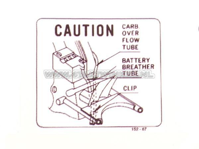 Aufkleber CB50 Batterie