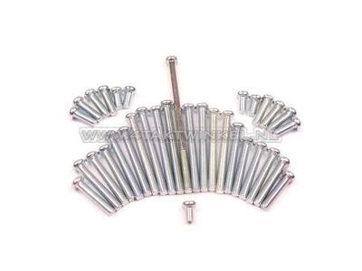 Schraubensatz für Motorblocke, Kreuzkopf, C50, C70, C90, Originaloptik, Nachfertigung