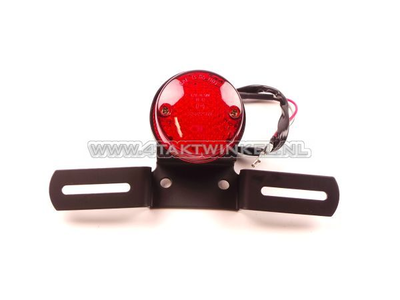 Rücklicht einzeln 60mm rund, LED, rotes Glas, E-Markierung