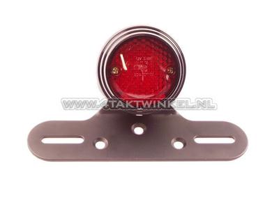 Rücklicht einzeln 70mm rund, LED, rotes Glas, E-Markierung