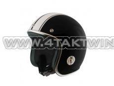 Helm MT, Le Mans, Schwarz / Weiß, Größen S bis XL