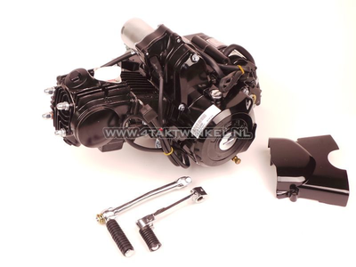 Motor, 50 ccm, manuelle Kupplung, Lifan, 4-Gang, Anlasser oben, schwarz