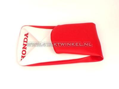 Sitzbankbezug C310 rot / weiß, Honda Kennzeichnung, Nachfertigung