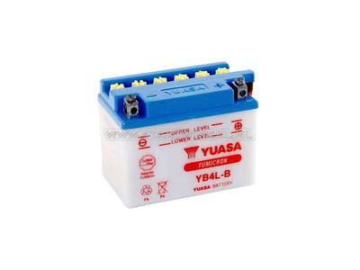 Batterie 12 Volt 4 Ampere Säure, YB4L-B, Yuasa