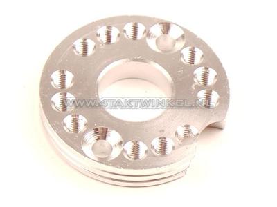 Einstellplatte für Vergaser Aluminium, blank, 22mm