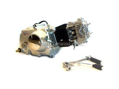 Motor, 107 ccm, manuelle Kupplung, Lifan, 4-Gang, Silber