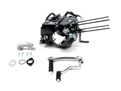 Motor, ohne Zylinder und Kopf, manuelle Kupplung, Lifan, 4-Gang, schwarz