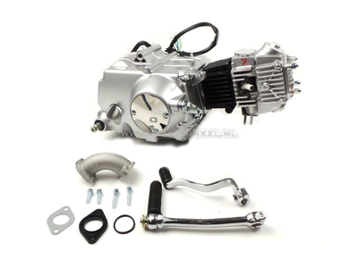 Motor, 50 ccm, manuelle Kupplung, Lifan, 4-Gang, Silber