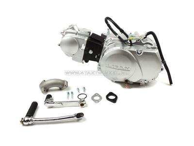 Motor, 70 ccm, manuelle Kupplung, Lifan, 4-Gang, Silber