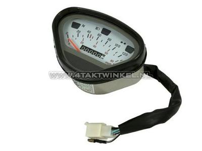 Tachometer Dax bis 140 km/h Nachfertigung, weiß