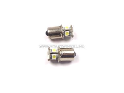 Lampe BA15-S, 12 Volt, LED weiß, 2er-Set