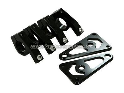Scheinwerferhalterungen, Universal, CNC-Aluminium, 26 mm, schwarz