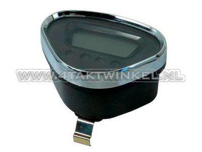Tachometer Dax digital, schwarz mit Chromkante