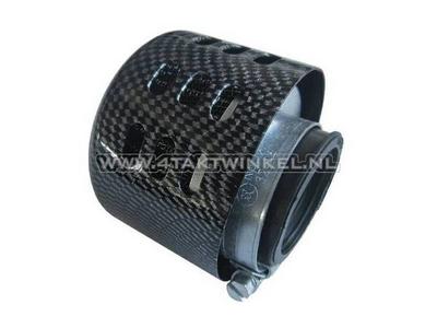 Tuning Luftfilter 35 mm, Carbonkappe, kugelförmig