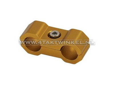 Kabelklemme, 6mm, Aluminium, Gold